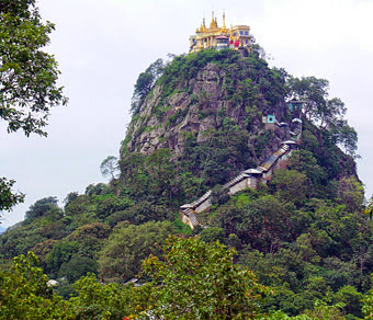Day Tour to Mt Popa abode of the Nats