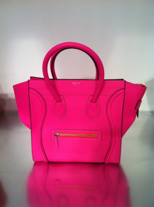 buy celine bag online usa - oh.my.god.shoez!: Resort 12 Celine Fluorescent Pink Mini Luggage