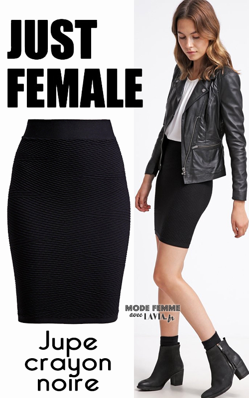 Jupe courte noire JUST FEMALE