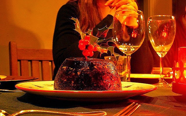 Christmas Pudding from Flickr, credited: Peter Hilton