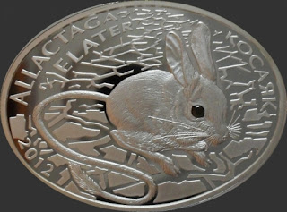 серебряная монета ПРУФ продажа и покупка монет 500 тенге 2012 тушканчик