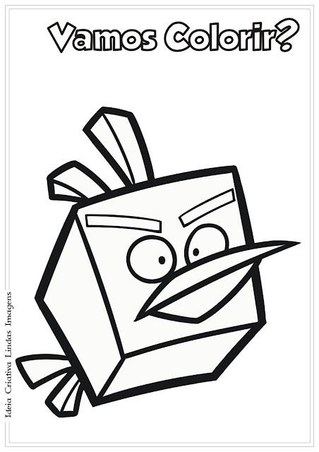 Angry Birds desenho pra colorir