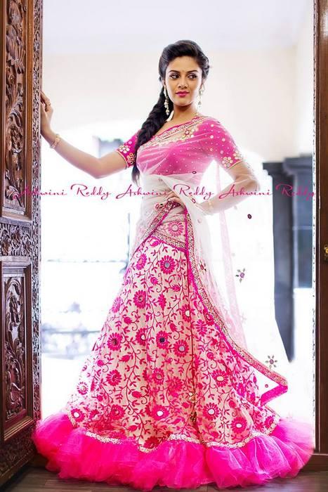 Floral Half Sari by Ashwini Reddy