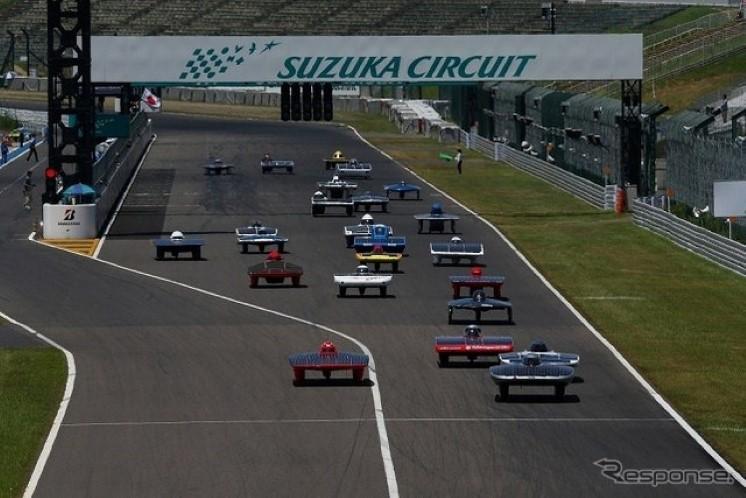 Solar Car Race Suzuka 2013, samochody napędzane energią słoneczną, wyścigi, Japonia, JDM, racing, tor wyścigowy, ekologia, co2