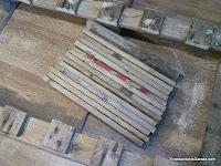 Madera de palet cortado son sierra de vaivén, enredandonogaraxe.com