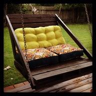 Dondolo da giardino terrazzo fai da te con pallet dondolo in legno per