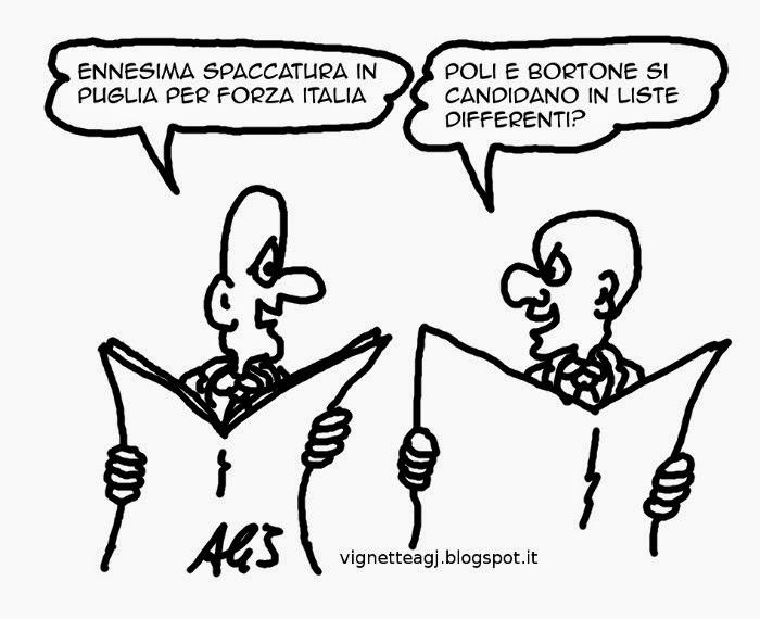 forza italia, puglia, poli bortone, centrodestra, satira vignetta