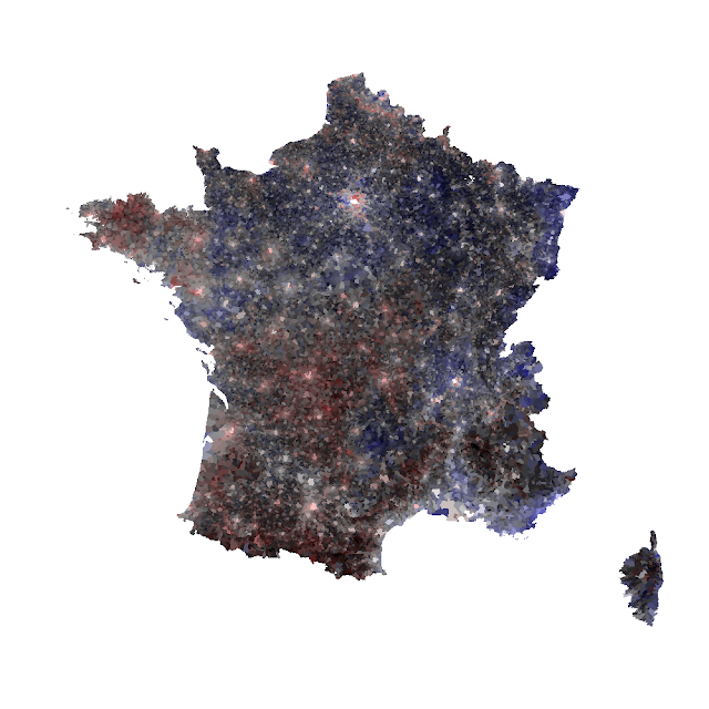Isarithmic Map Of French Votes Why And Howto Datagistips - Isarithmic map us voting