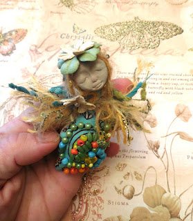 Handmade Beaded Folk Art Doll Wedding Gift for Bride
