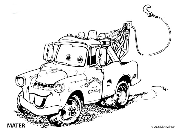 Disney Cars Mater Coloring Pages