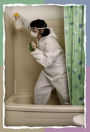 Bathroom fungus removal