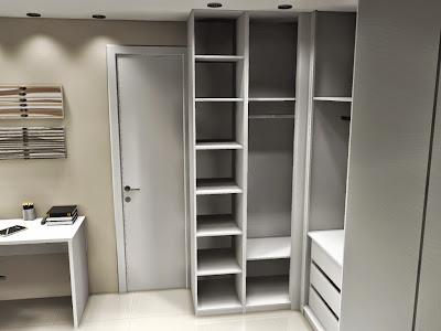 quarto de solteiro planejado - closet planejado