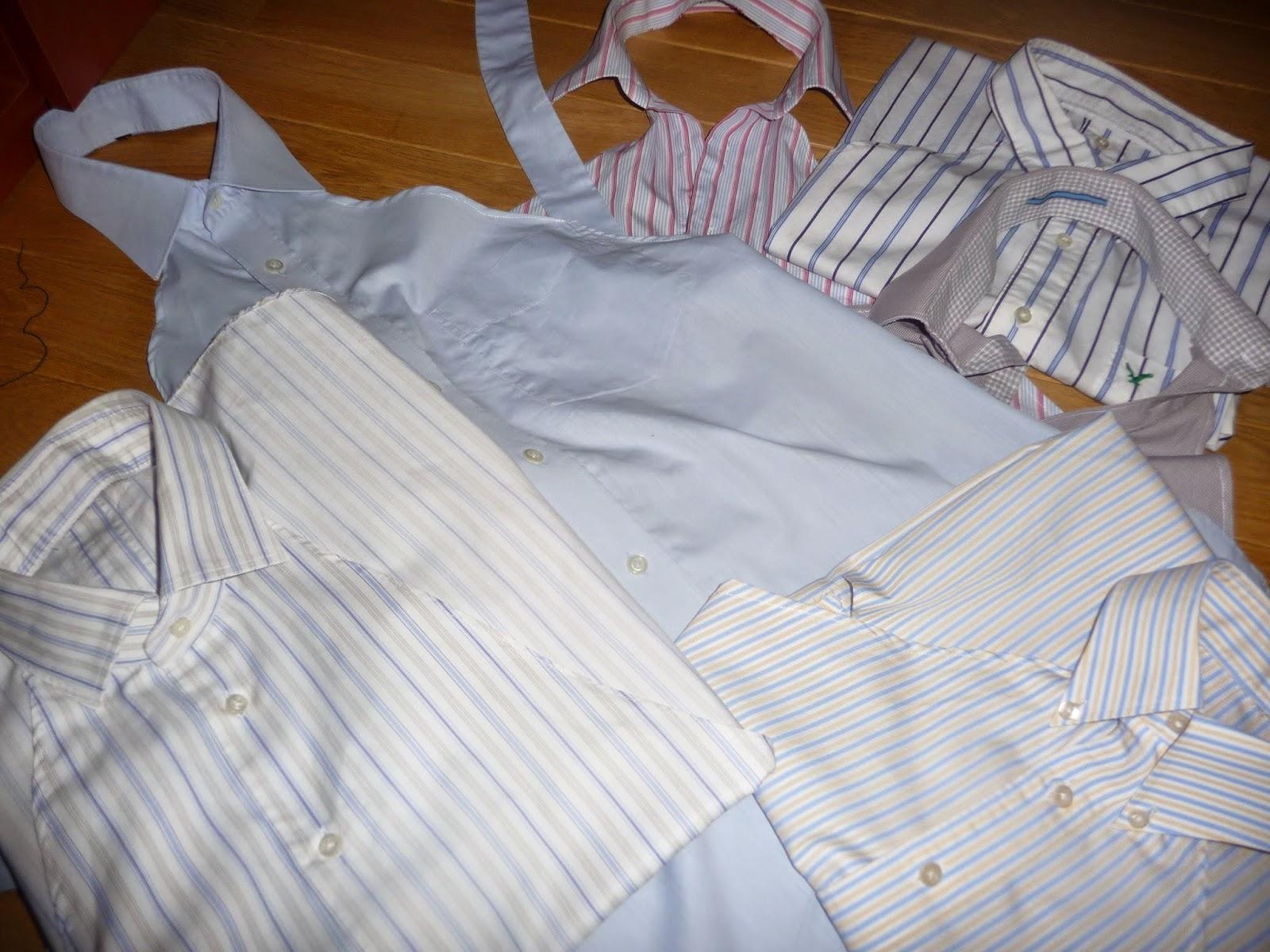 jak zrobić fartuch z męskiej koszuli