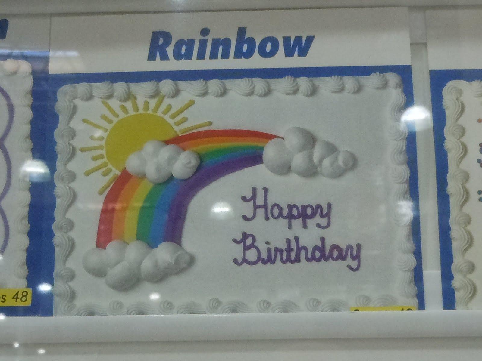 Dessert Costco Rainbow Cake Baptism Pinterest
