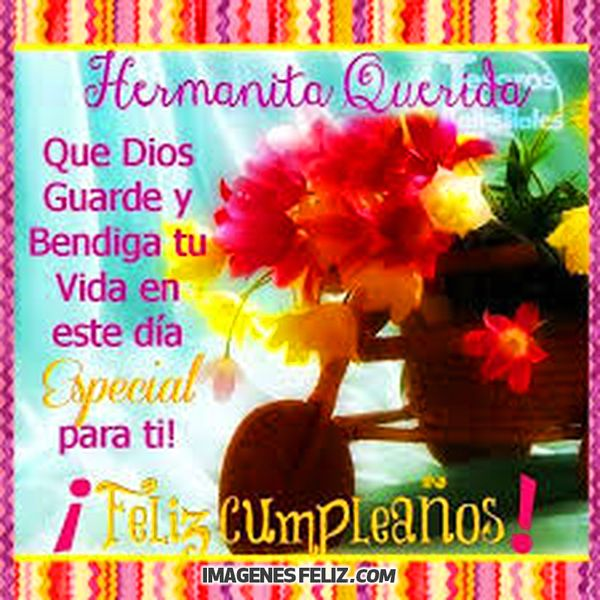 Feliz Cumpleanos Hermana Imagenes Frases Bonitas