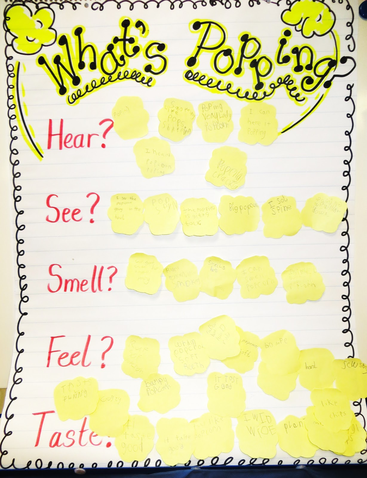 First Grade Wow Poppin with Sensory Details – Sensory Words Worksheet