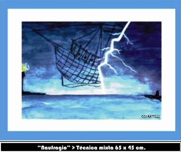 """Naufragio"" > Técnica mixta 65 x 45 cm."