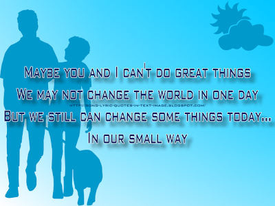 In Our Small Way - Michael Jackson Song Lyric Quote in Text Image