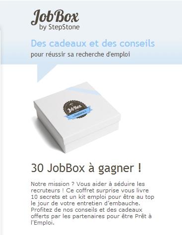 """30 coffrets """"JobBox"""""""