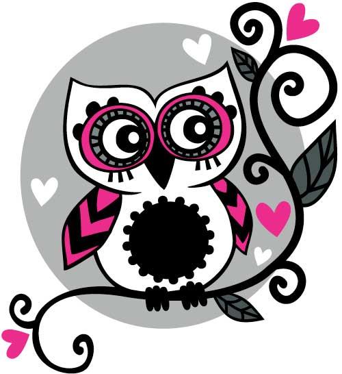 Cute Pink Owl Wallpapers