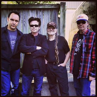 Farm Aid 2013 Photo, Dave Matthews, John Mellencamp, Willie Nelson, Neil Young