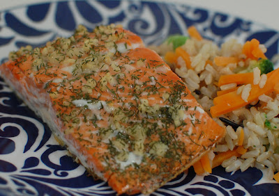 Garlic Dill Salmon: This is the first recipe I ever tried with salmon ...