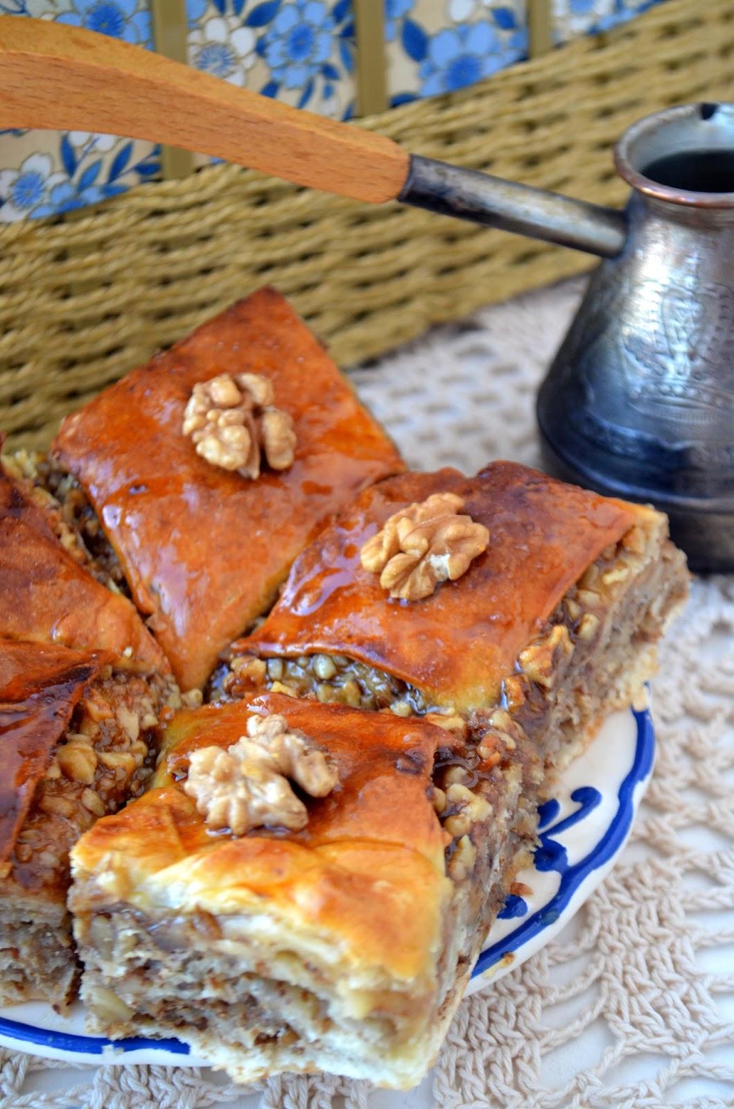 Пахлава с медом и орехами рецепт с пошагово