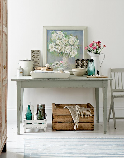home decor with crates and pallets - kitchen decor