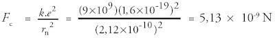 Gaya elektrostatik yang bekerja pada elektron (FC)
