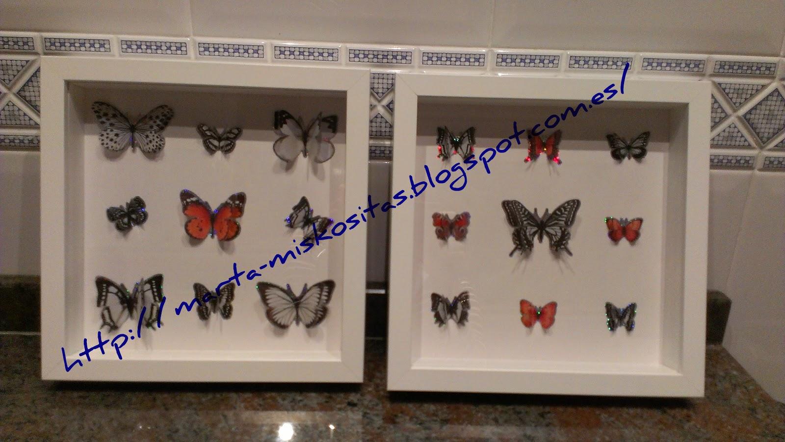 Miskositas cuadros de mariposas - Marcos cuadros ikea ...