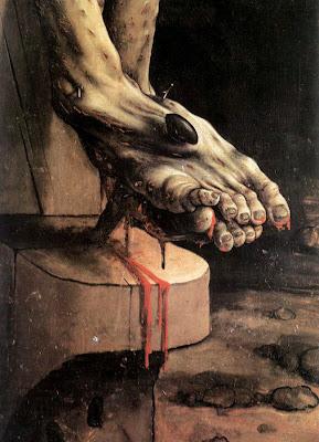 Matthias Grünewald, Isenheim Altarpiece, crucifixion, detail