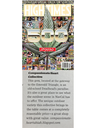 Compassionate Heart Rated in High Times Top Dispensaries!!!