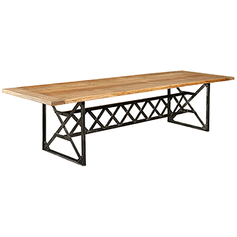 Christa pirl furniture interiors hudson goods is cool for Really cool dining tables