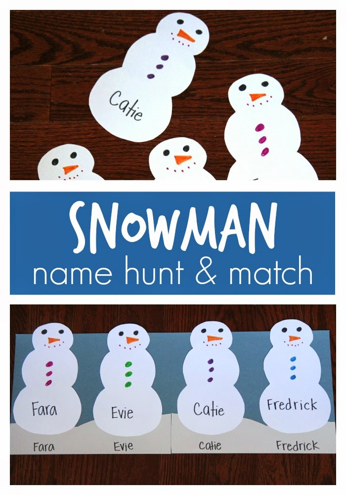 snowman activities for preschool toddler approved snowman name hunt amp match for preschoolers 242