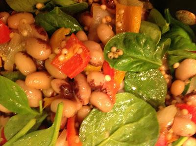 Yellow Eye Bean Salad with Sorghum