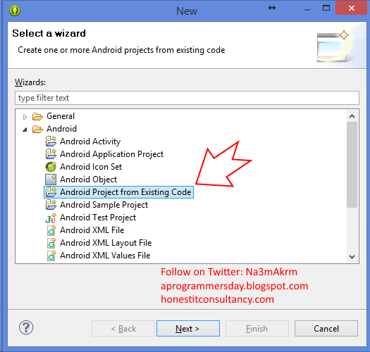 android-project-existing-code-eclipse-adt
