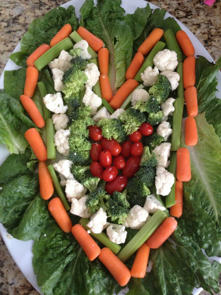 Vegetable Tray Presentation