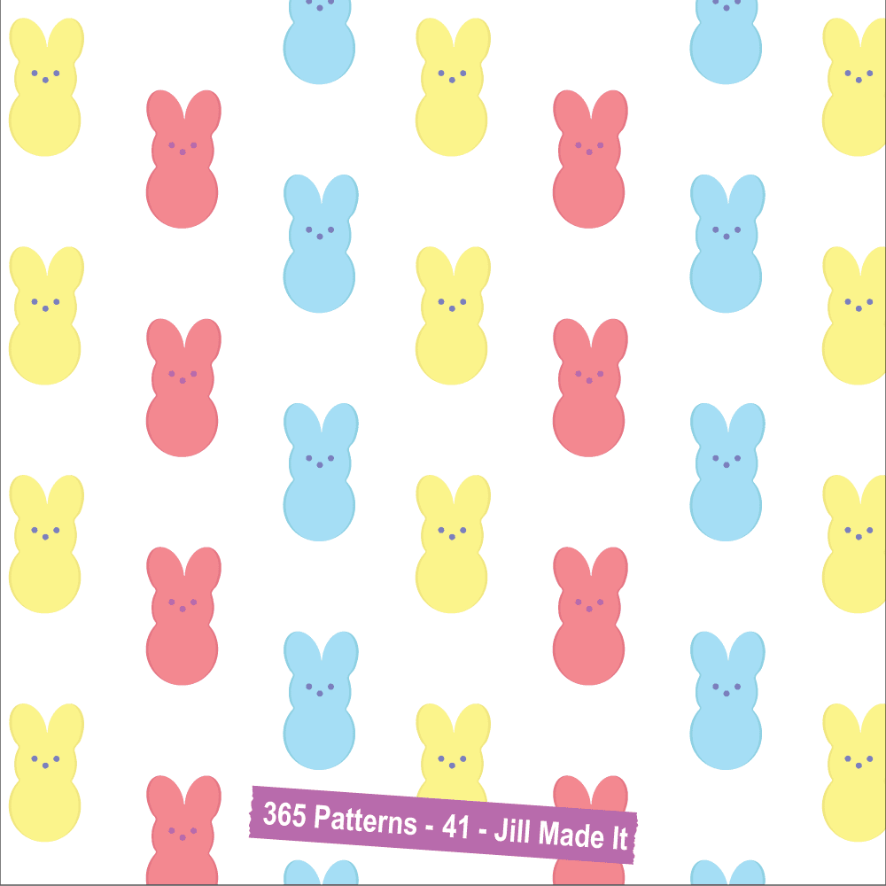 Easter Patterns:  Easter Bunny Peeps | Jill Made It