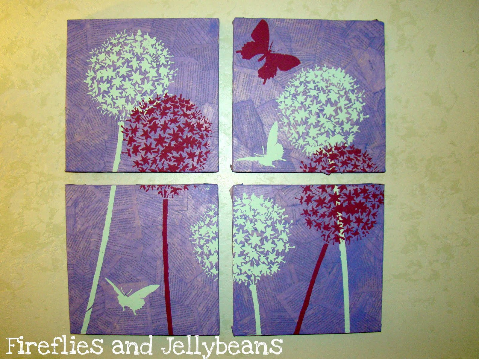 fireflies and jellybeans paper mache 39 wall art for the diy club. Black Bedroom Furniture Sets. Home Design Ideas