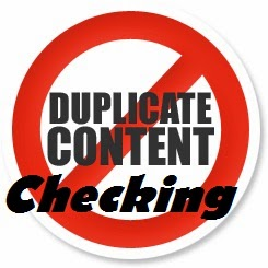 check for duplicate content