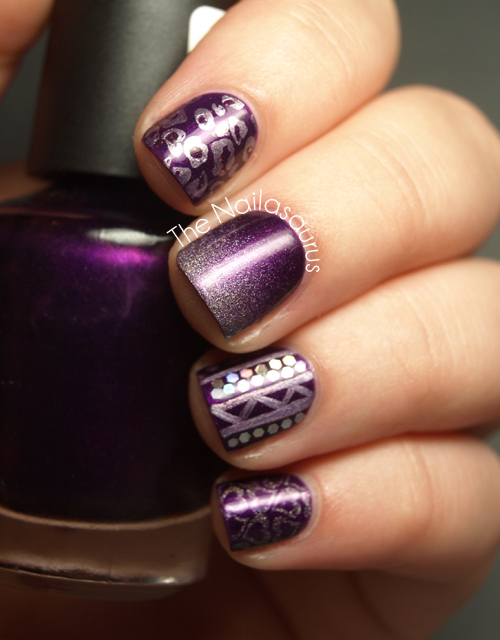 W7 Purple Paradise with Nail Art