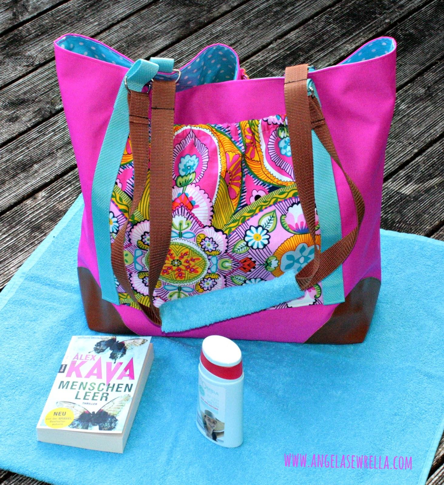 selbstgenähte Strandtasche