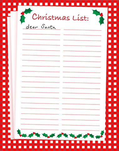 Christmas lists now so we all hope Santa will read them carefully and ...