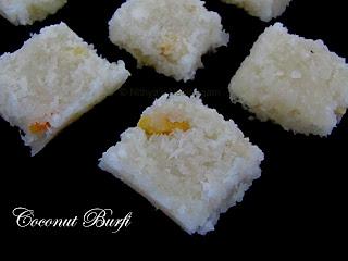 Coconut Burfi | Thengai Barfi