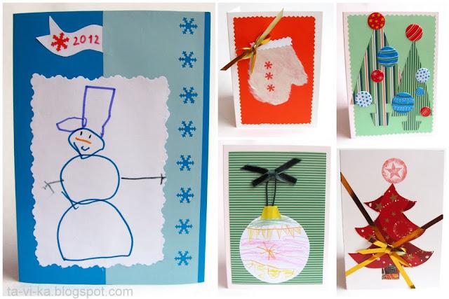 новогодние открытки своими руками christmascraft