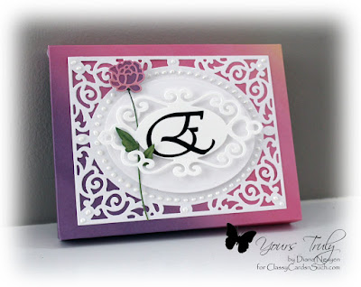 Diana Nguyen, Envelope Punch Board, Pennington Rose, card box, Filigree Delight, monogram