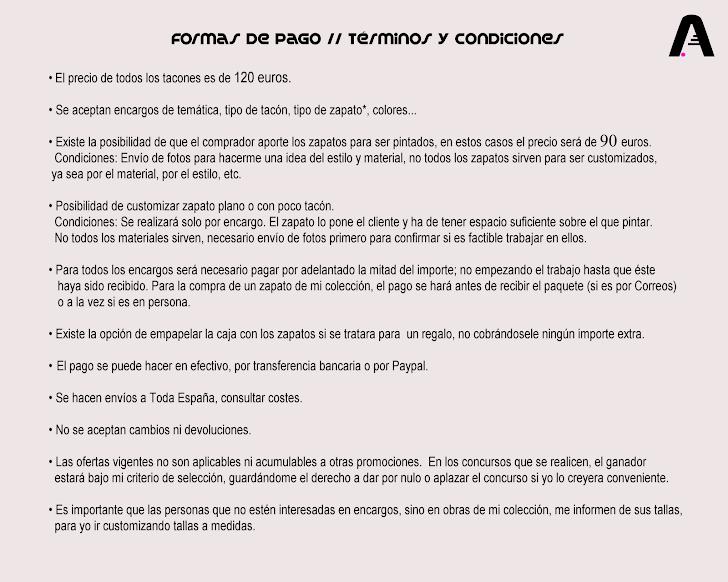 Formas de Pago // Términos y Condiciones