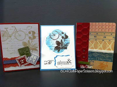 Spring Stamp-a-stack cards by Ida Chan