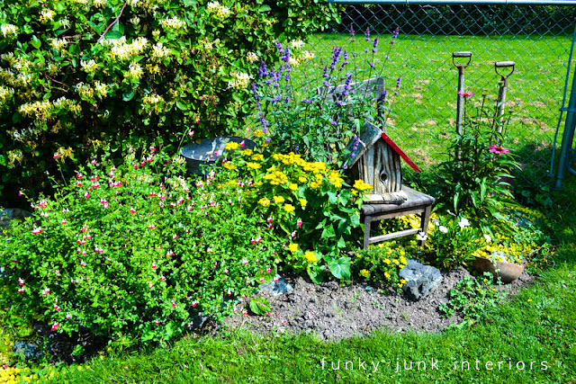how to edge flowerbeds like a pro via funky junk interiorsfunky, Beautiful flower