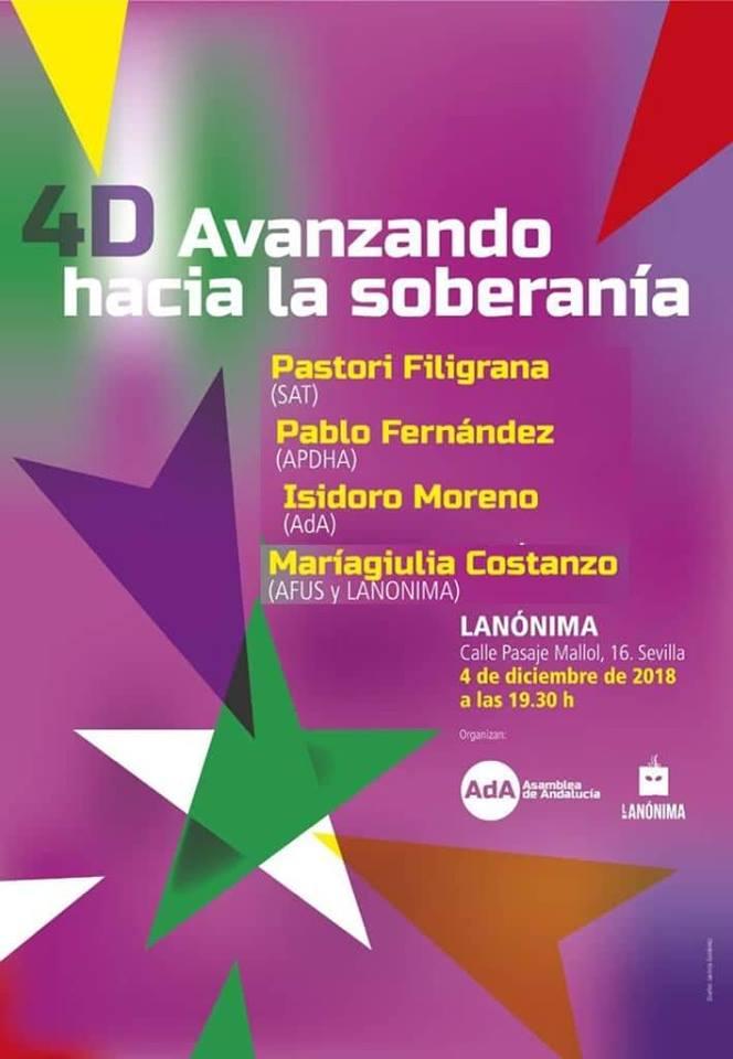 ACTO   4D   2018.   MESA  REDONDA  -  DEBATE.      4D : AVANZANDO HACIA LA SOBERANÍA.